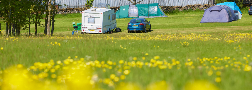 Shaded Pitches Bakewell Camp Site Derbyshire