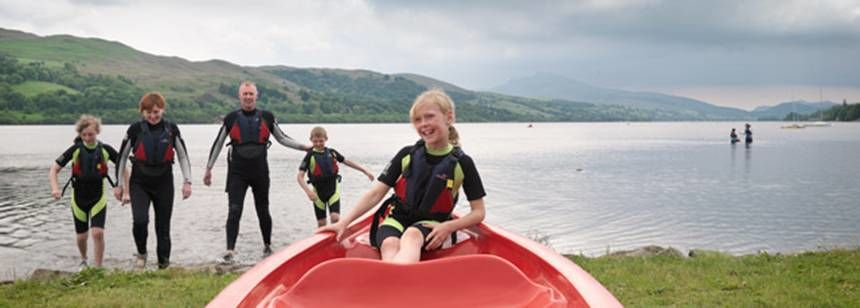 Children Enjoying the Water Sports Facilities of Bala Camp Site, Gwynedd
