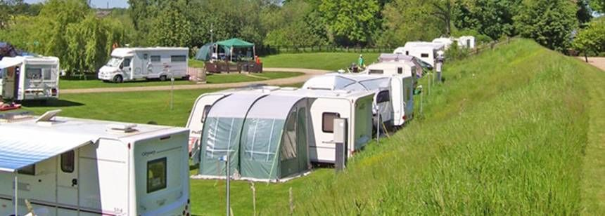 Grass Pitches For Campers, Caravans and Tents in Boroughbridge Camp Site, North Yorkshire
