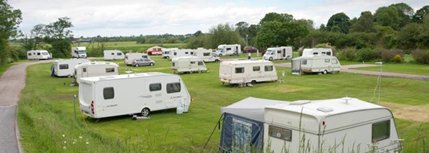 Grass Pitches Close to Amenities at Boroughbridge Camp Site, North Yorkshire