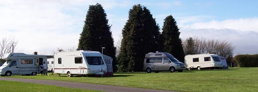 Some of the Grass Pitches At the California Cross Campsite