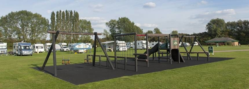 Play area at Cambridge campsite