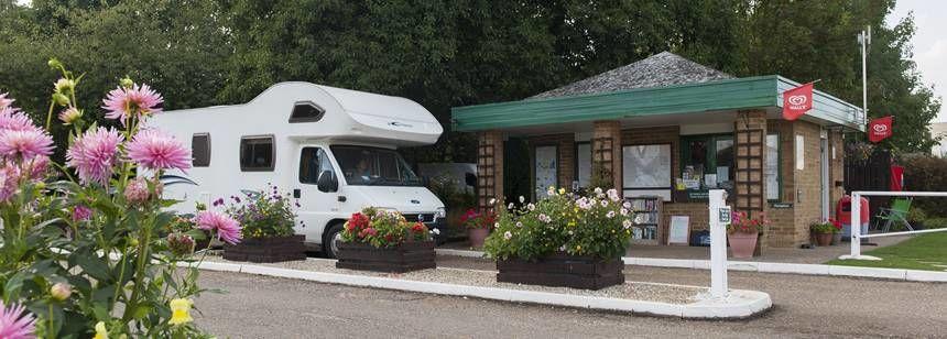 Cambridge campsite reception