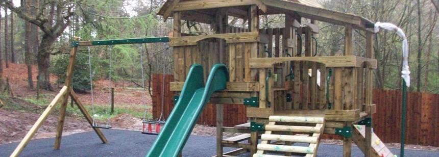 Wonderful Play Area at Cannock Chase Camp Site, Staffordshire