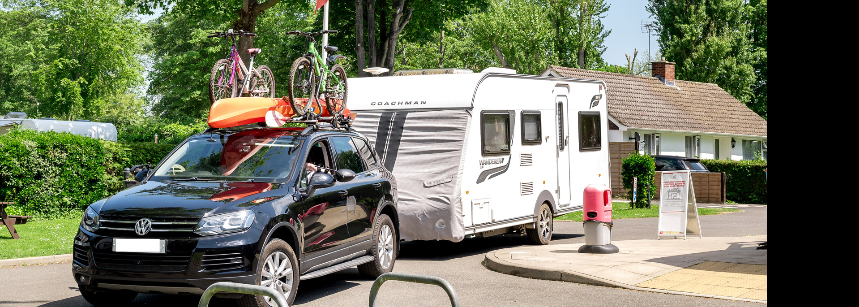 Family Cycling on Chertsey Camping and Caravanning Club Site