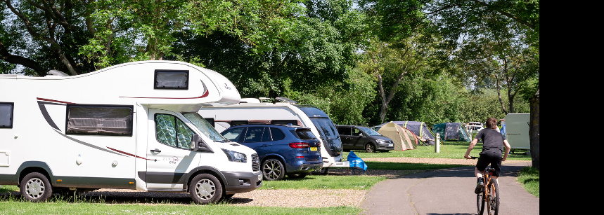 Grass Pitches For Your Mobile Home, Caravan and Tent at Chertsey Camp Site, Surrey