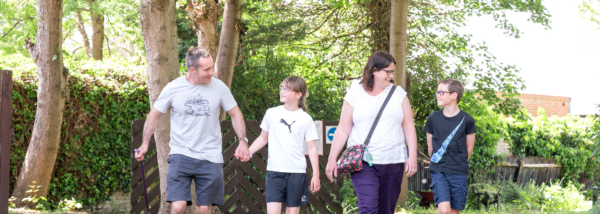 Children Enjoying the Play are at Chertsey Camp Site, Surrey