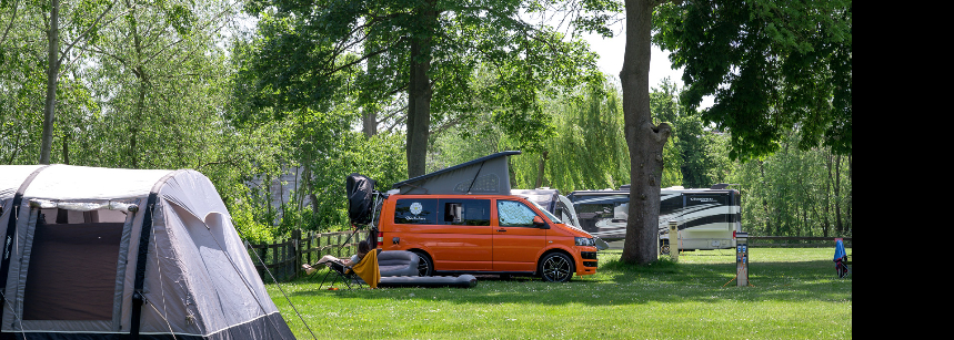 The on  Site Shop and Amenities at Chertsey Camp Site, Surrey