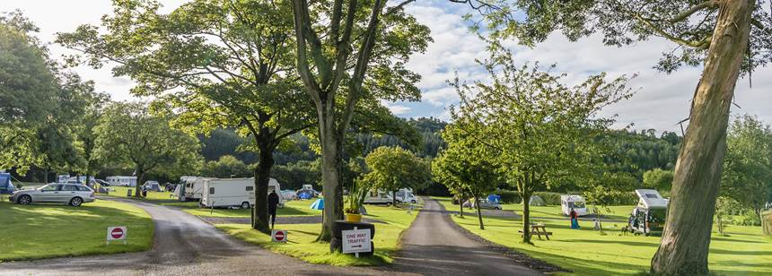 Grass Pitches With Scenic Views of the West Midlands Country Side From Clent Hills Camp Site