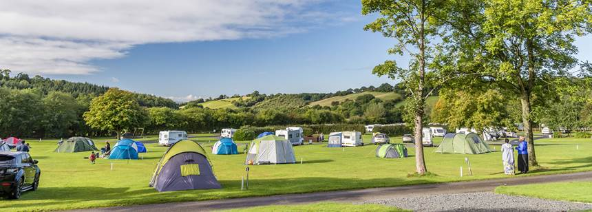 Grass Pitches For Your Mobile Home, Caravan and Tent at Clent Hills Camp Site, West Midlands