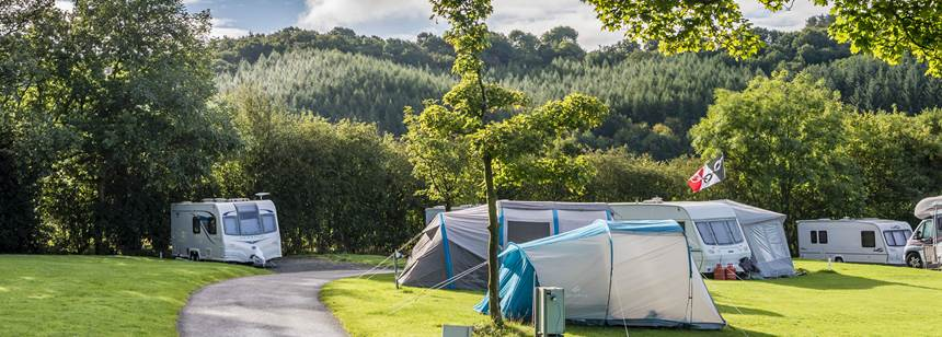 Grass Pitches For Your  Mobile Home, Caravan and Tent, Overlooking the West Midlands
