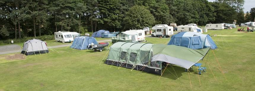 Grass Pitches For Your Mobile Home, Caravan and Tent at Dunstan Hill Camp Site, Northumberland