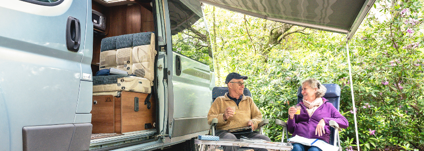 A Secluded Grass Pitch at the Heart of Graffham Camp Site, West Sussex