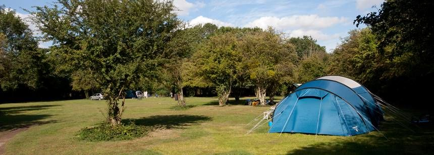 A Tent Pitched in the Scenic Surrounds of the Hertford Camp Site, Hertfordshire