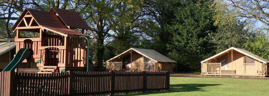 The facilities at Horsley Camp Site, Surrey