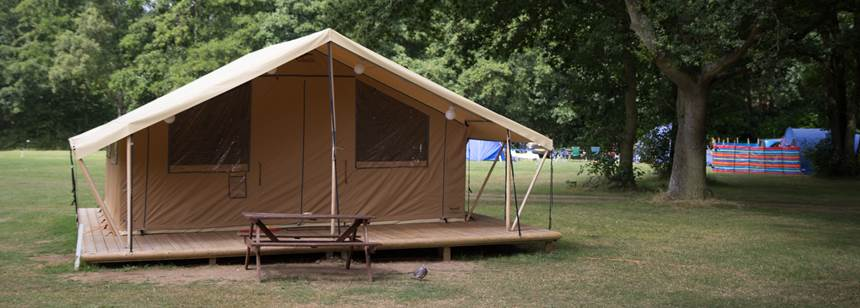 Kelvedon Hatch Club site safari tent