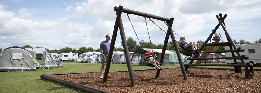 A Family Enjoying the Kids Play Area at Kessingland Camp Site, Suffolk