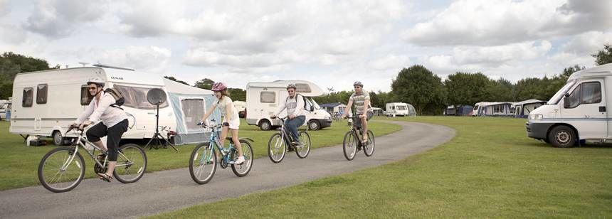 Cycling Through the Kessingland Camp Site, Suffolk