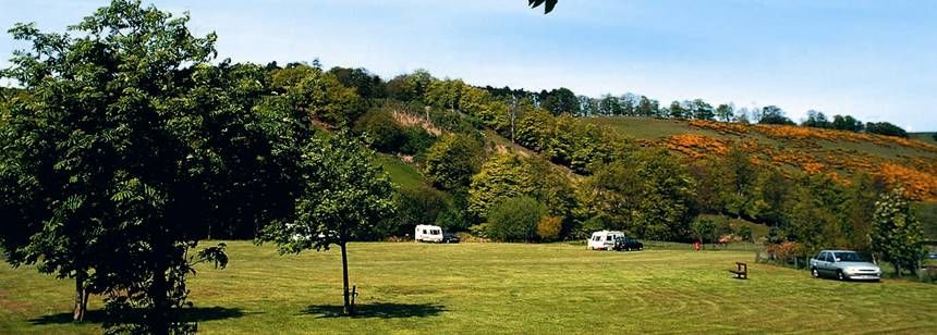 The Scenic Back Drop to the Lauder Camp Site, Scotland