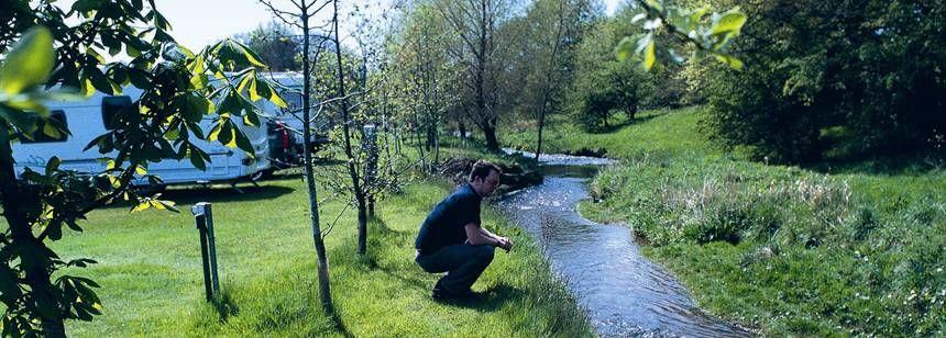 A Stream Running Adjacent to the Lauder Camp Site, Scotland