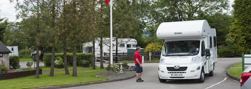 Just Arriving For An Enjoyable Stay at Leek Camp Site, Staffordshire