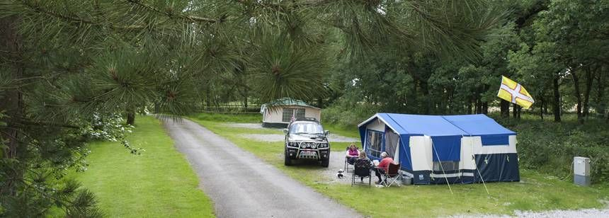 Grass and Hard Stand Pitches Overlooking the Scenic Staffordshire Countryside.