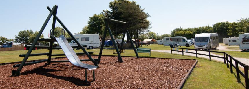 Family camping at Lynton campsite