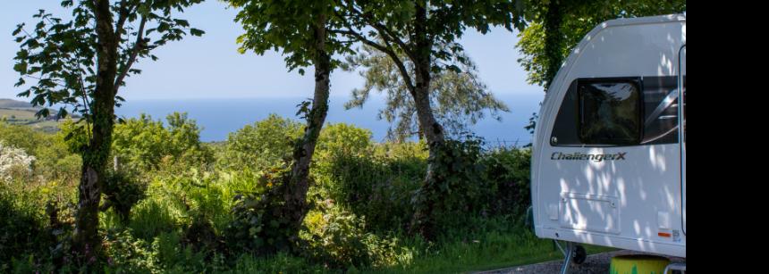 Walking through Lynton campsite