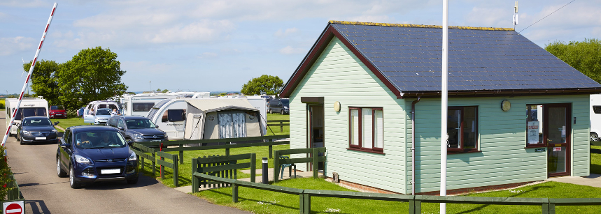 Shaded Views Overlooking Grass Pitches of the Mablethorpe Camp Site, Lincolnshire