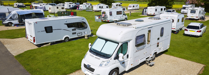 Some of the Hard Standing Pitches at the Mablethorpe Camp Site, Lincolnshire