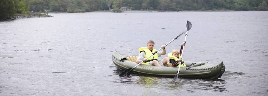 Kayaking With the Family on  Loch Lomand