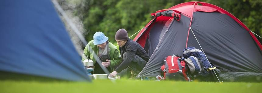 Camping and Getting Back to Nature at Milarrochy Bay Camp Site, Glasgow