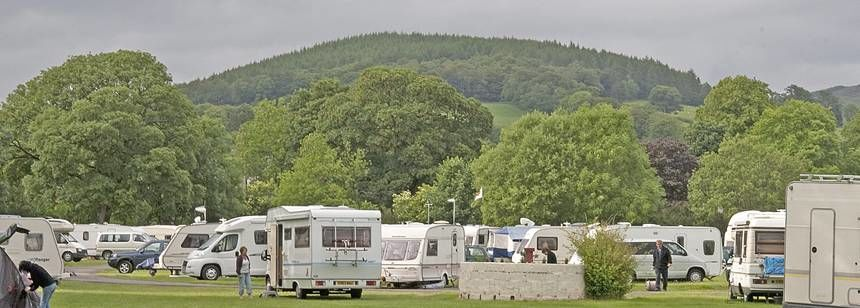Some of the Grass Pitches of the Moffat Camp Site Overlooked by the Dumfries Countryside