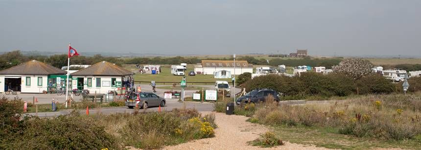 Views of Normans Bay Campsite With Views of one of the Nicest Beach in East Sussex