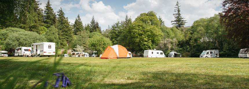 Some of the Scenic Grass and Hard Standing Pitches at the Oban Camp Site, Argyll
