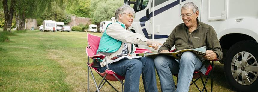 Couple enjoying Oban Camping and Caravanning Club Site