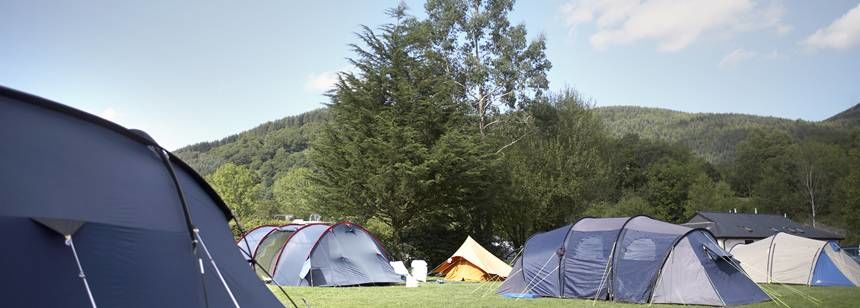 Tent Pitches Overlooked by the Rolling Hills of Carmarthenshire