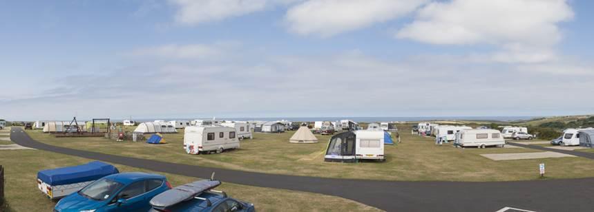 Panoramic of Sennen Cove Campsite
