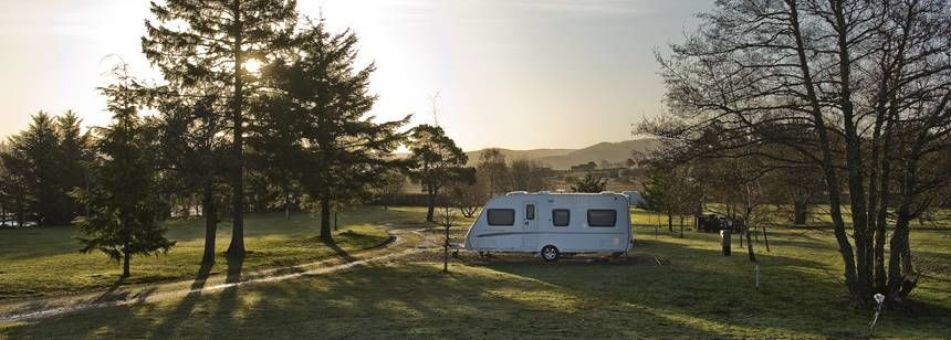 Grass Pitches in the Picturesque Surrounding of the Speyside Campsite, Moray
