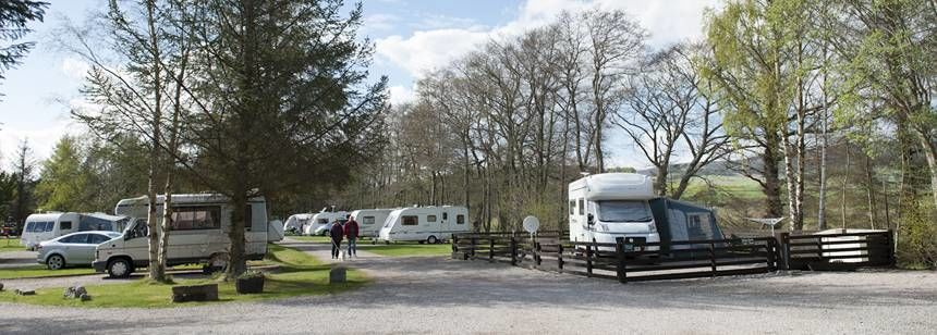 Hardstanding pitches at Tarland Club Site