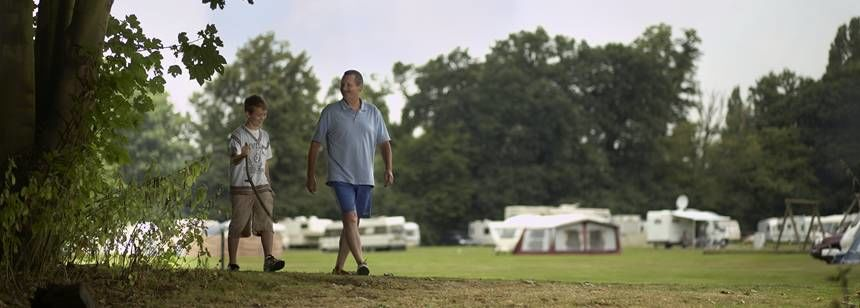 A Family Enjoying the Surrounds of the Theobalds Park Camp Site, Hertfordshire