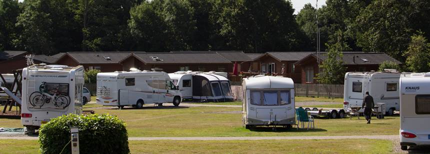 One of the Self Catering Options at the Theobalds Park Camp Site, Hertfordshire