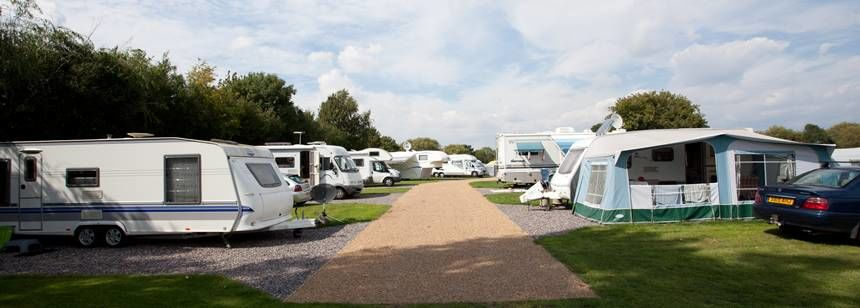 Some of the Hard Standing Pitches at the Walton-On-Thames Camp Site, Surrey