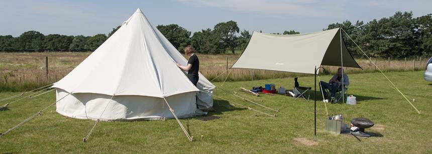 Spend a Weekend Glamping in one of the Tipi's at Woodhall Spa Camp Site, Lincolnshire