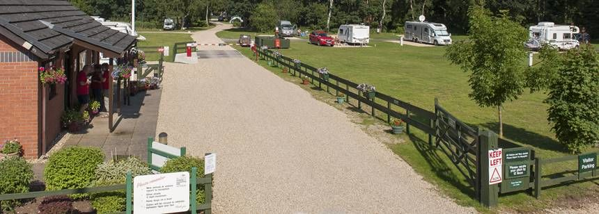 Views of the Facilities and Pitches of the Woodhall Spa Camp Site, Lincolnshire