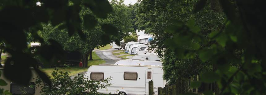 caravans on Alton Club Site