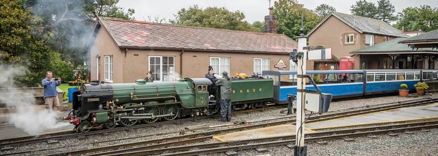 Ravenglass Club site railway