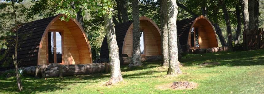 Camping pods at Ravenglass