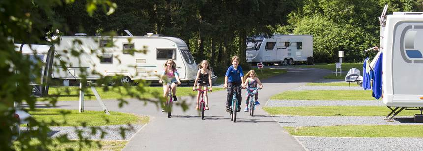 Grass Pitches to Accommodate Your Tent, Camper of Caravan at Blackmore Camp Site, Worcestershire