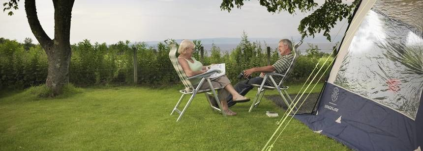Couples Relaxing and Enjoying Their Time Together at Culzean Castle Camp Site, Ayrshire